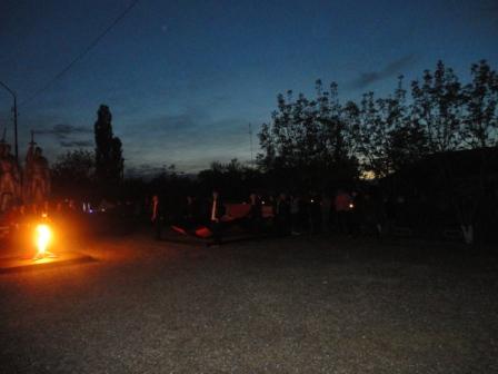 У вечного огня , памятник павшим в центре села - Татьяна Витальевна Донцова