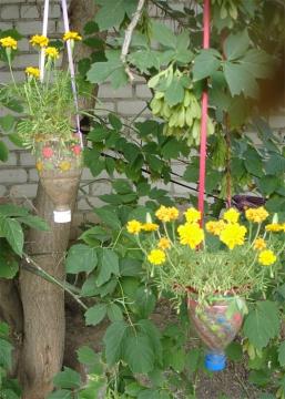 Фото украшение сада своими руками из подручных