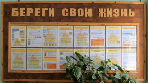 Стенд `Правила пожрной безопасности` - Юлия Борисовна Рамхина
