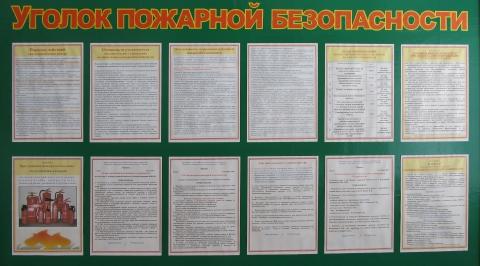 Уголок пожарной безопасности. - Юлия Борисовна Рамхина