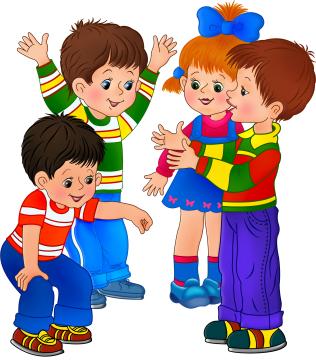 картинки рисованные играющие дети
