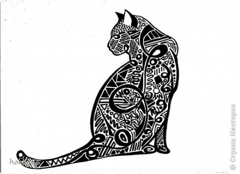 Вытынанка - Креатив по-кошачьи Вытынвнка.
