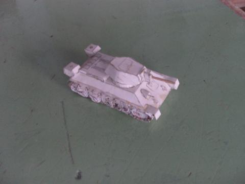модель танка Т-34/бумага/ - Сообщество учителей технологии.