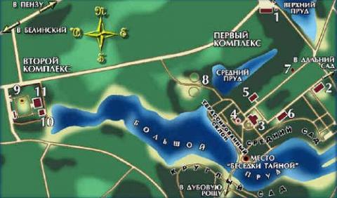Карта музея-заповедника Тарханы - Любовь Валентиновна Колганова