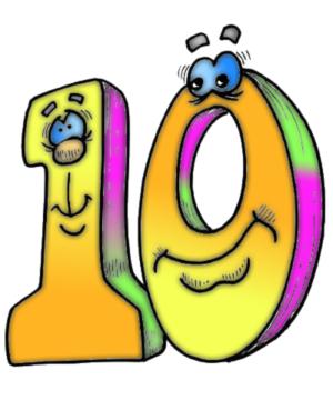Открытка цифры 10