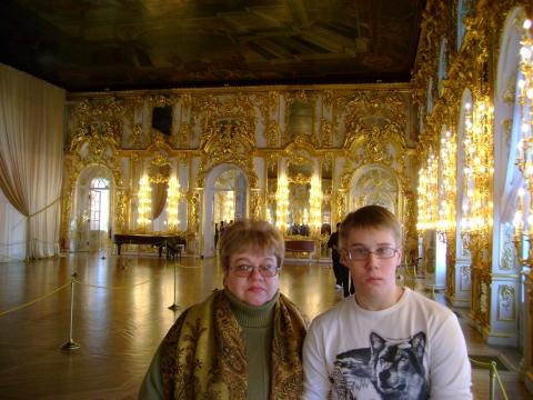 Екатериниский дворец. Январь 2009. Я и сынок. - Алла Петровна Косарева