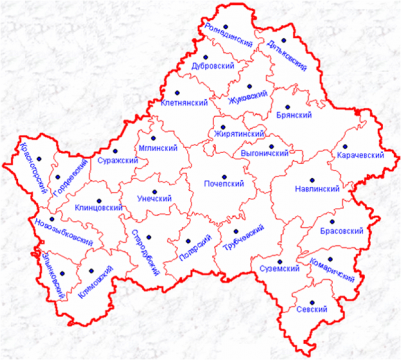 Карта-схема Брянской области - Екатерина Михайловна Мосяго.