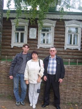 У дома С.Есенина - Юлия Васильевна Талалаева