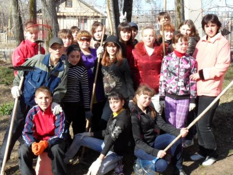 мой класс на субботнике - Елена Сергеевна Ильина