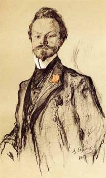 Портрет К.Д. Бальмонта. 1905.