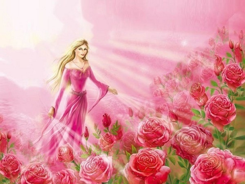 Розовое пламя