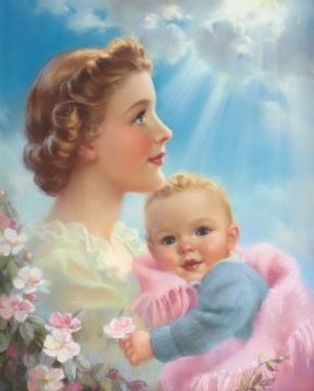 Мать с ребенком на руках - Оксана Валентиновна Читаева
