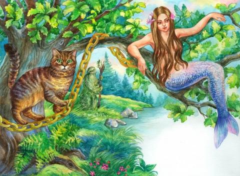 Русалка на ветвях сидит... Иллюстрация - Наталия Леонидовна Степанова