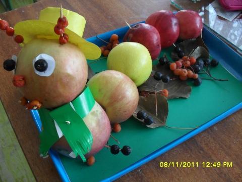 Поделка из яблок своими руками