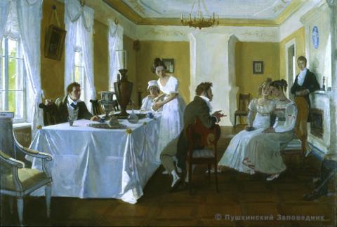 Пушкин в гостях у семейства Осиповых-Вульф в Тригорском