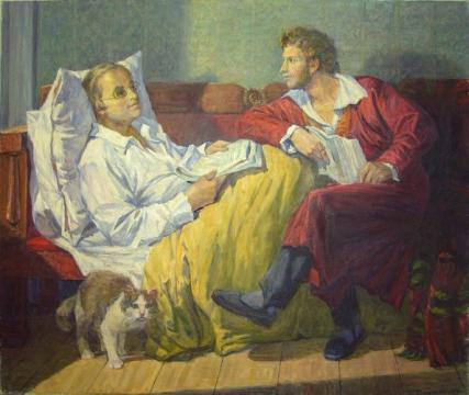 Дельвиг и Пушкин в Михайловском