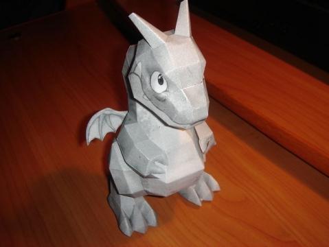 Сделать своими руками дракона из бумаги