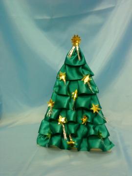 Сделать елку из атласной ленты своими руками