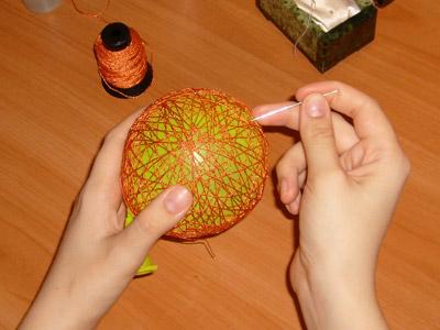 Фото как делать елочные игрушки своими руками