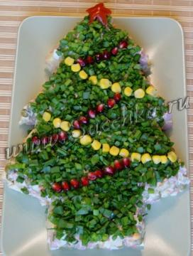 Новогодний салат (дизайн)