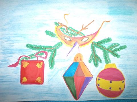Новогодние игрушки 3 класс