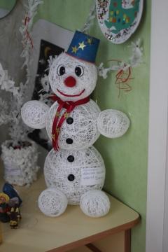 Снеговик своими руками в детский сад фото