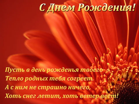 С Днём рождения . Цветок