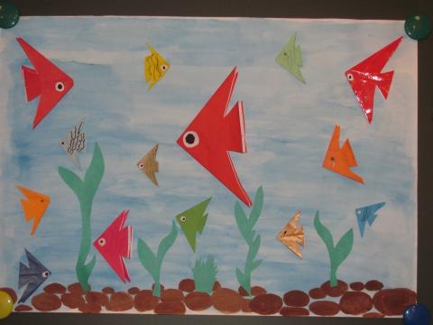глазах картинки оригами аквариум безобидные
