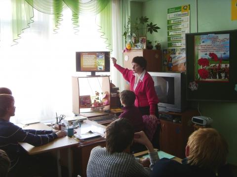 На уроке в 9-в классе. - Марина Юрьевна Горбачева
