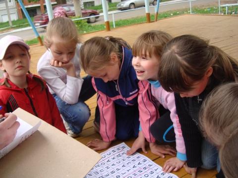 Урок на улице;) - Самый внимательный ученик на уроке