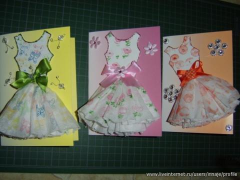 Своими руками открытка для девочки