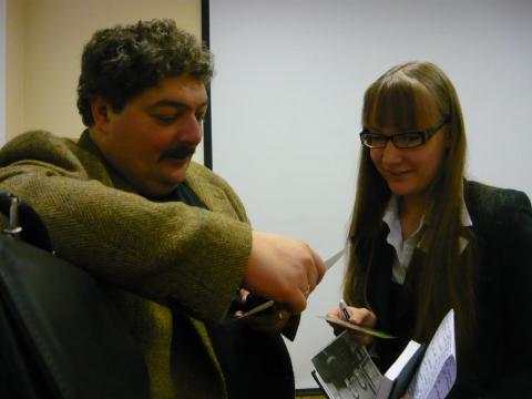 После пресс-конференции с Д.Быковым - Александра Николаевна Литвинова