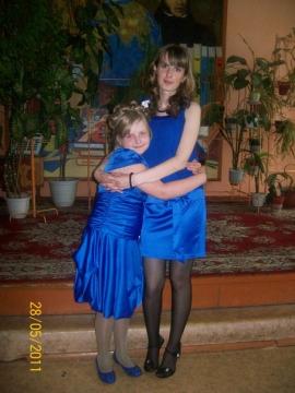 Я, год назад с моей ученицей - Елена Николаевна Шафоростова