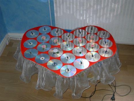 Поделки из дисков на 8 марта - Поделки, делаем самостоятельно