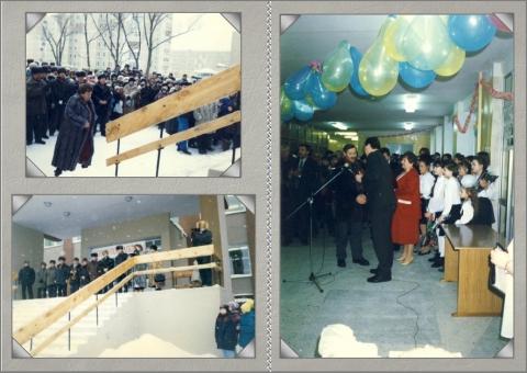 Открытие школы 1997 г. - МБОУ УСОШ №1 им. А.С. Попова, г. Удомля Тверской обл.