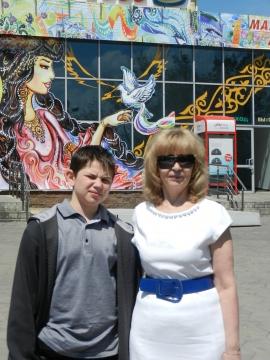 Владик, мой внук, и я на Кок-тюбе. - Людмила Александровна Чупина