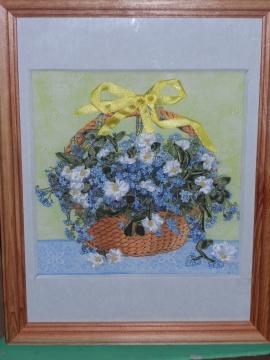 Вышивка летами - корзинка с цветамика с цв - Наталья Борисовна Коноплёва