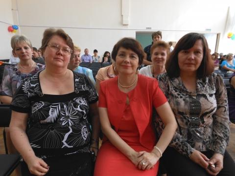С коллегами -прошкольницами Ивановой И Л и Евхутич Л И  - Марина Юрьевна Горбачева