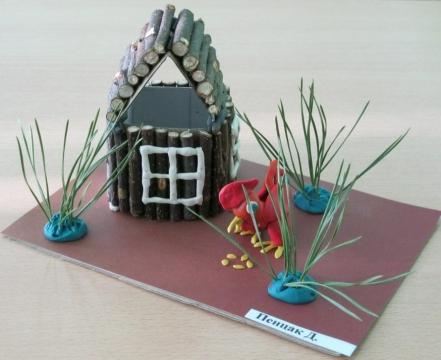 Как сделать домик из прутиков своими руками