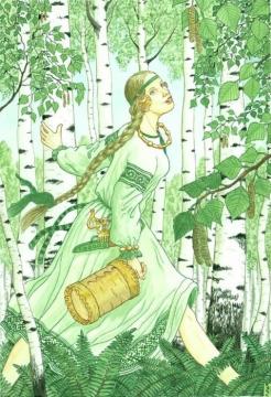 ...И ее золотистые косы и холщовый ее сарафан...